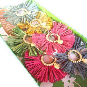 Bali Hai Drink Markers Hula Grass Skirt Shells NEW